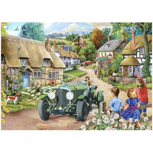 House of Puzzles Vintage Run Big 500pc Jigsaw Puzzle Image
