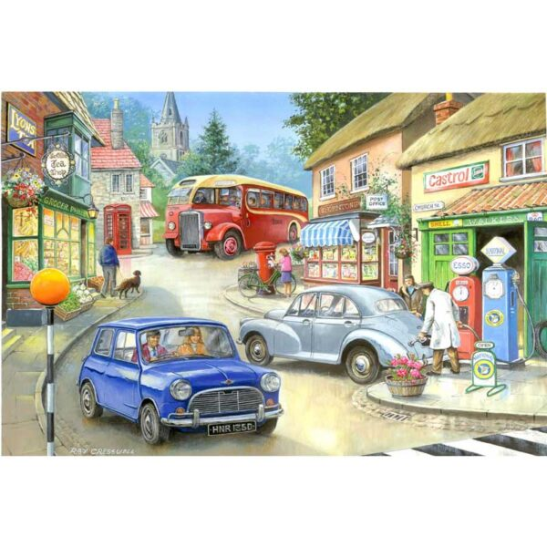 House Of Puzzles Country Town Jigsaw Puzzle - Big 250 Piece