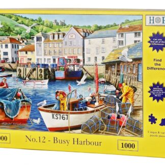 House of puzzles find the differences no 12 busy harbour jigsaw puzzle Box