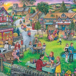 House of puzzles sixties green jigsaw puzzle
