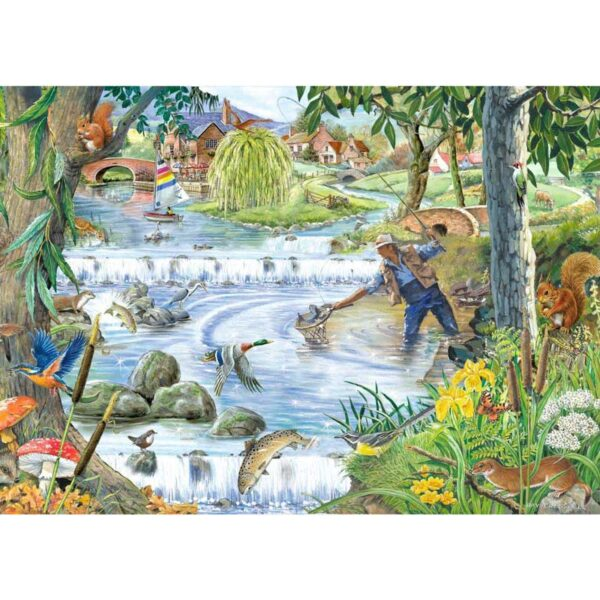 House Of Puzzles Sparkling Waters Jigsaw Puzzle - Big 250 Piece