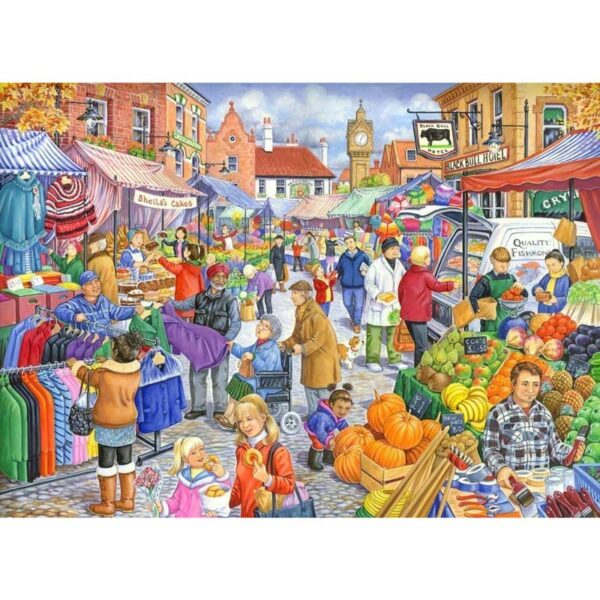 House Of Puzzles Market Day Jigsaw Puzzle - Big 250 Piece