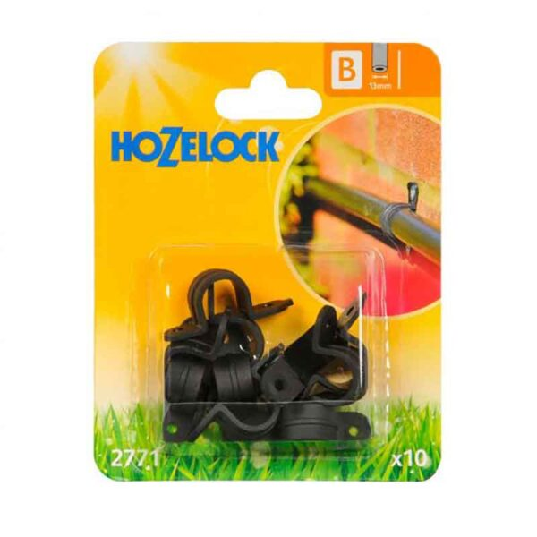 Hozelock 13mm Wall Clips (Pack of 10)