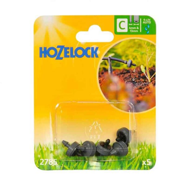 Hozelock 4 LPH End of Line Pressure Compensating Dripper (Pack of 5)