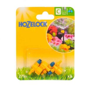 Hozelock 180º Adjustable Micro Jets (Pack of 3)