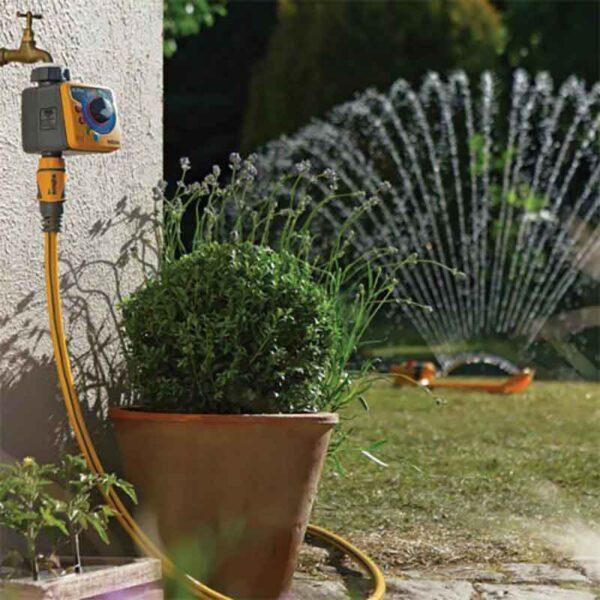 Hozelock Aqua Control Water Timer Plus in use