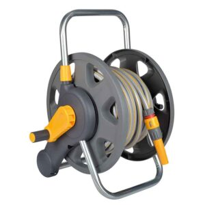 Hozelock Assembled 2-in-1 Hose Reel with hose & nozzle (25m)