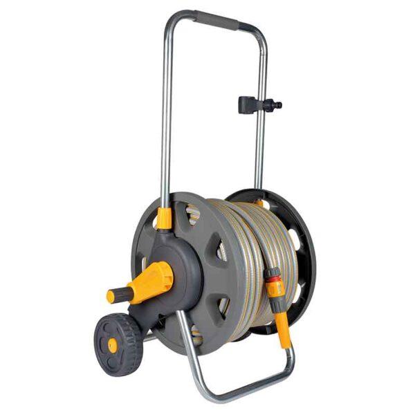 Hozelock Assembled 60m Hose Cart with 50m of 12.5mm hose & nozzle