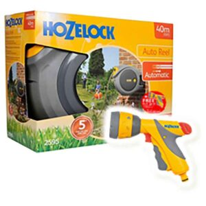 Hozelock Auto Reel with hose (40m) + FREE Multi Spray Plus with 6 settings