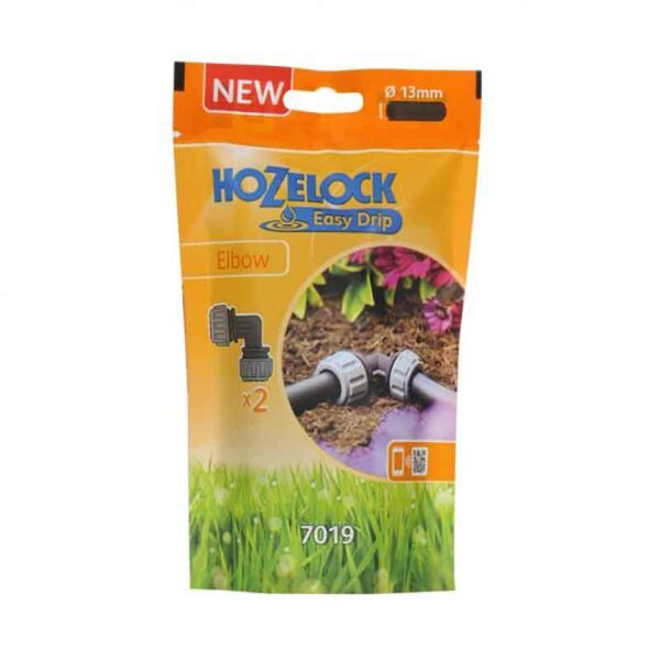 Hozelock Easy Drip Elbow Connectors (Pack of 2)