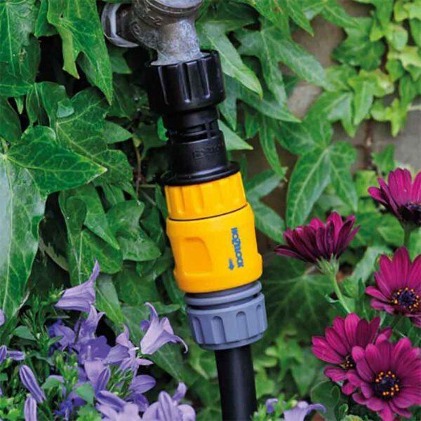 Hozelock Easy Drip Pressure Regulator in use