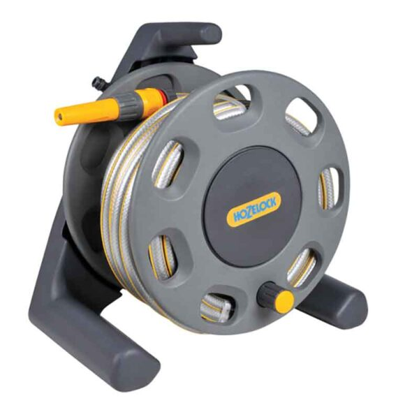 Hozelock Free Standing Hose Reel Set with 25m hose detail