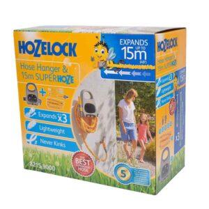 Hozelock Hose Hanger & 15m Superhoze Set
