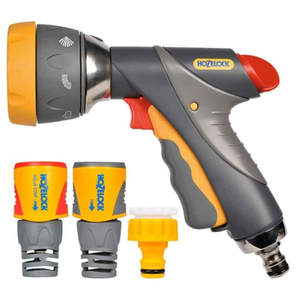 Hozelock Multi Spray Pro Set with 7 settings pack