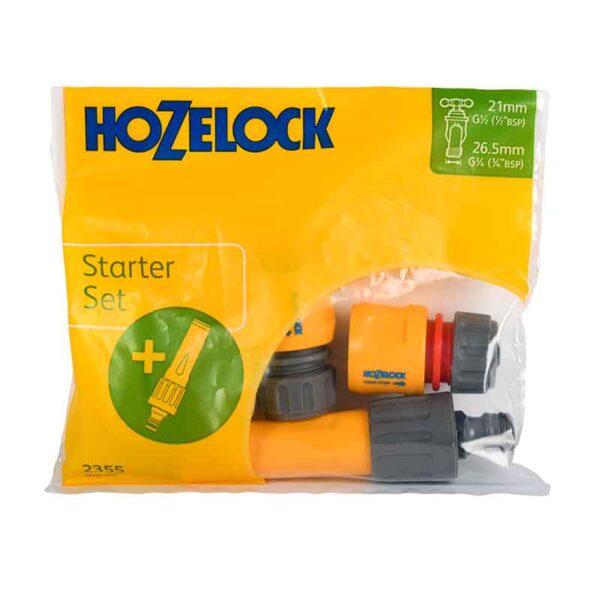 Hozelock Nozzle & Fittings Starter Set (4 pcs)