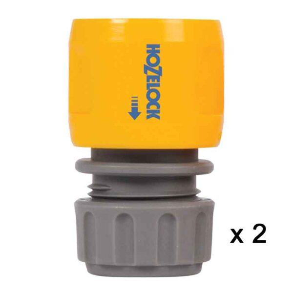 Hozelock Standard Hose End Connectors (Twinpack)