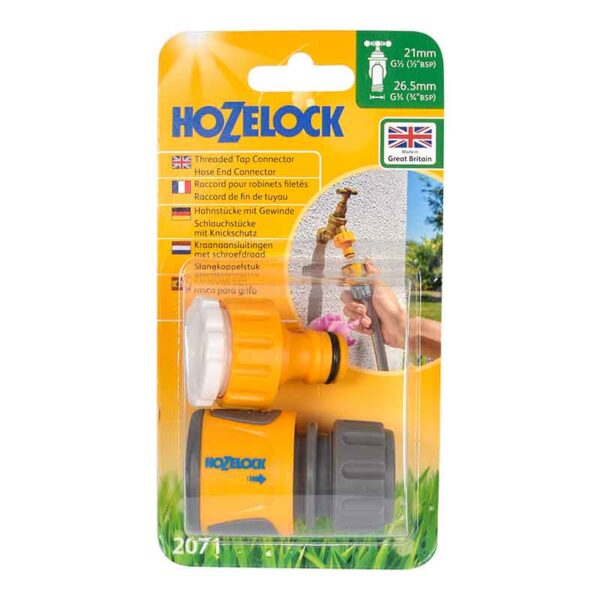 Hozelock Threaded Tap Connector & Hose End Connector