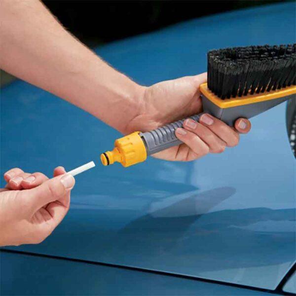 Inserting Hozelock Shampoo Soap Sticks