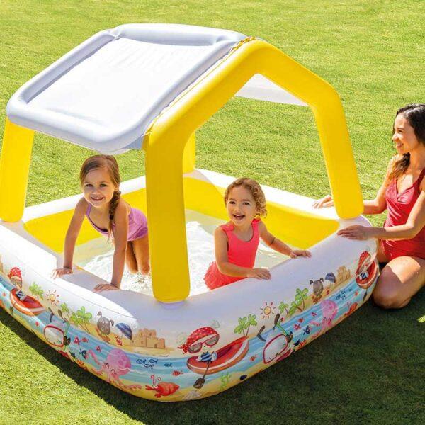 Intex Inflatable Sun Shade Pool Lifestyle