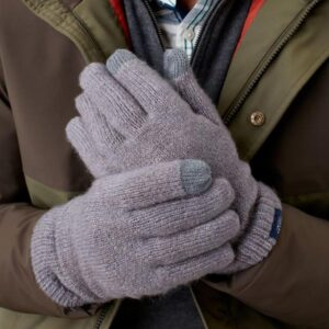Joules Bamburgh Gloves Mens Grey Marl