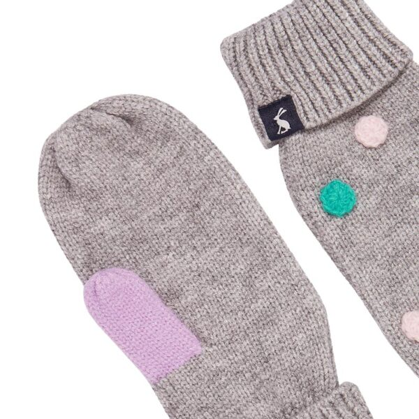 Joules Caldwell Luxe Pom Pom Mittens 1