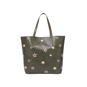 Joules Cindy Embroidered Shopper - Khaki