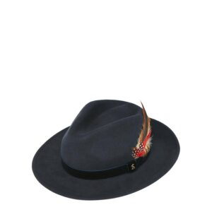 Joules Fedora Felt Hat French Navy 1