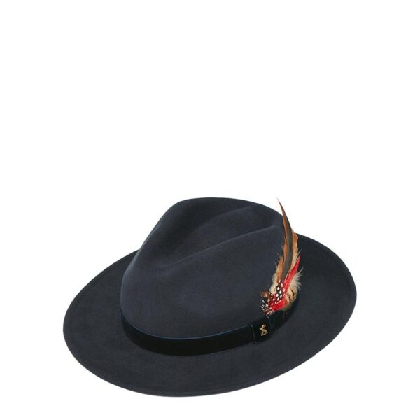 Joules Fedora Felt Hat French Navy 1