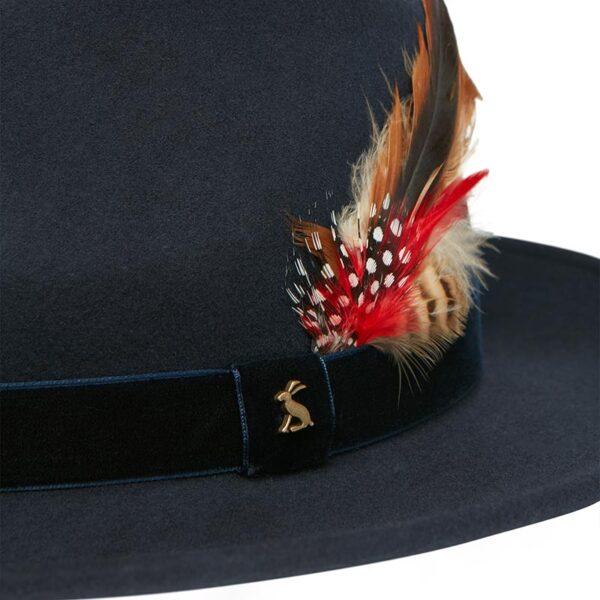 Joules Fedora Felt Hat French Navy 2