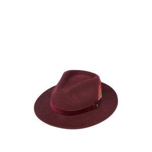 Joules Fedora Felt Hat Oxblood 1