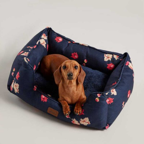 Joules Floral Box Dog Bed
