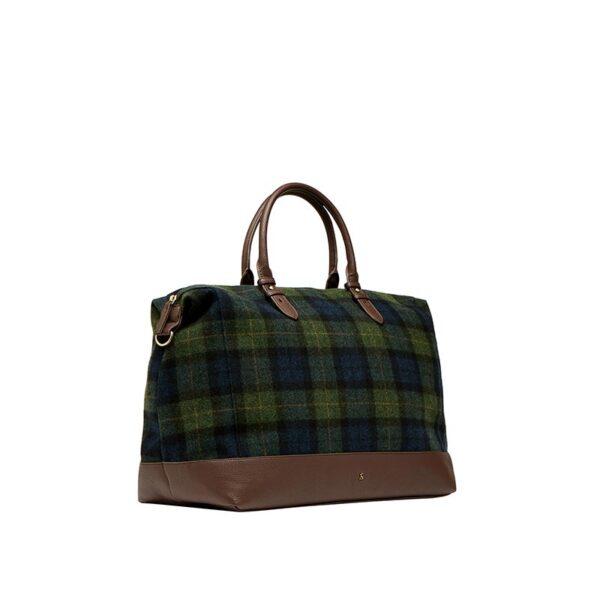 Joules Fulbrook Holdal Tweed Bag -Navy Green Check 1