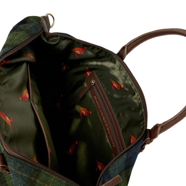 Joules Fulbrook Holdall Tweed Bag -Navy Green Check 3