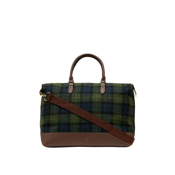 Joules Fulbrook Holdall Tweed Bag -Navy Green Check