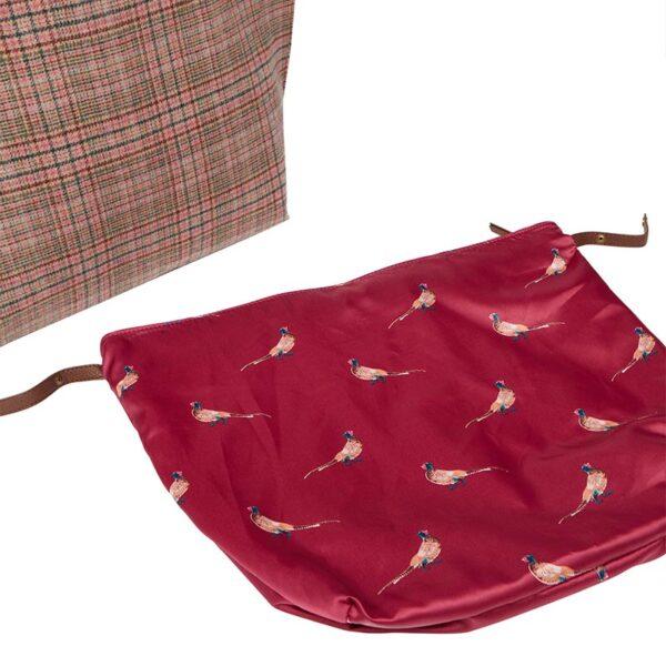 Joules Fulbrook Tote Pink Tweed 1