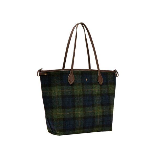 Joules Fulbrook Tote Tweed - Navy Green Check 2