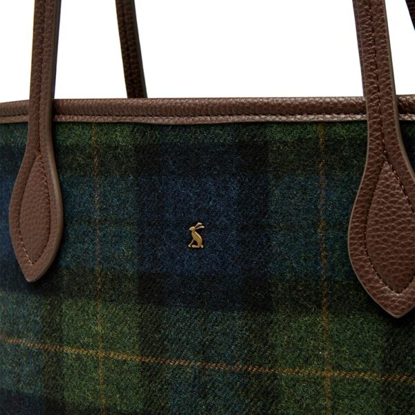 Joules Fulbrook Tote Tweed - Navy Green Check 3