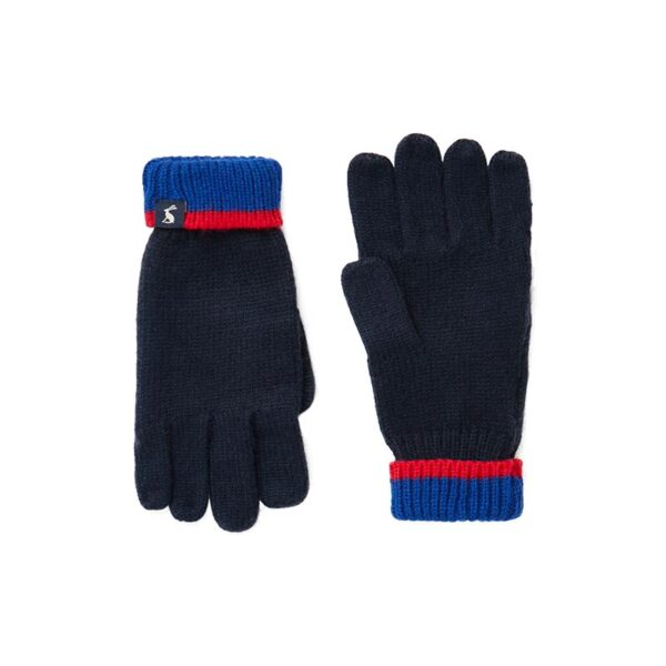 Joules Kirby Gloves -Boys French Navy 2