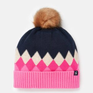 Joules Knitted Argyle Hat
