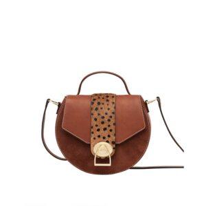 Joules Langton Mini Leather Saddle Bag -Tan