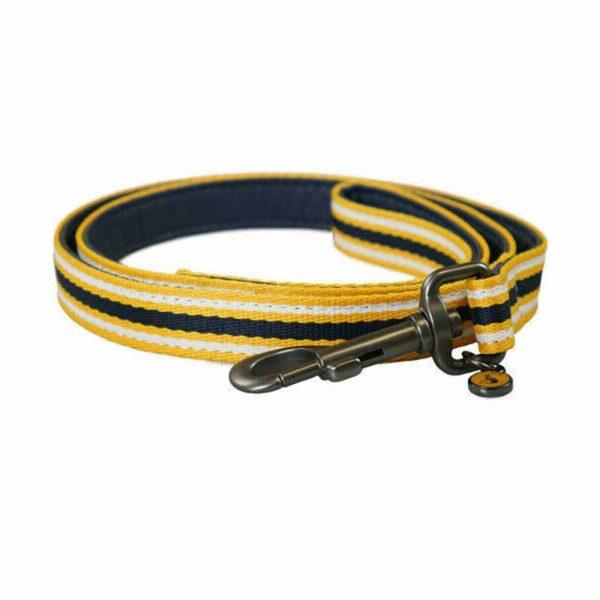 Joules Coastal Navy & Yellow Lead