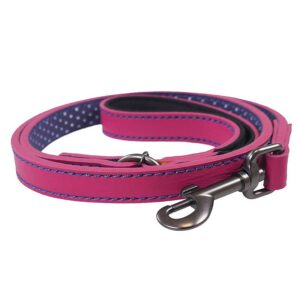 Joules Pink Leather Dog Lead