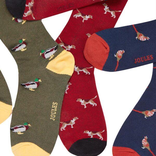 Joules Striking Multi Animal Socks - Pack of 3 1