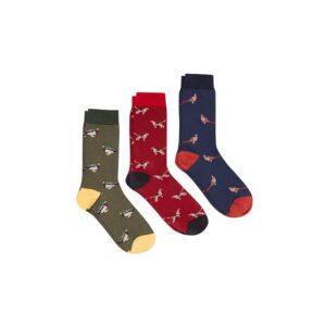 Joules Striking Multi Animal Socks - Pack of 3