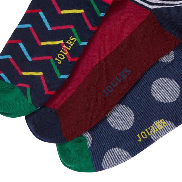 Joules Striking Multi Pack Socks - Pack of 3 1