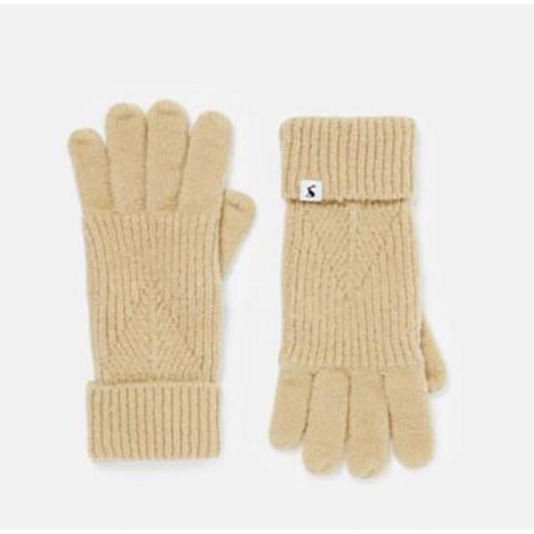 Joules Thurley Kintted Gloves Oat