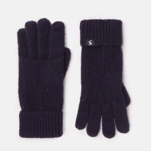 Joules Thurley Knitted Gloves French Navy 1
