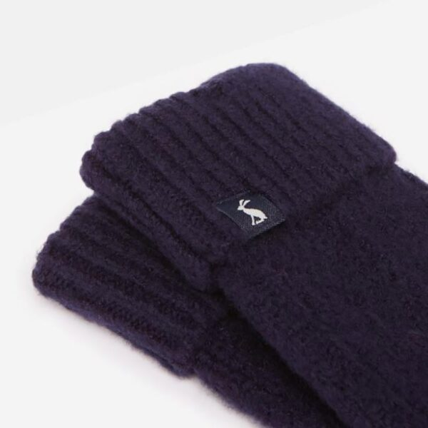 Joules Thurley Knitted Gloves French Navy 2