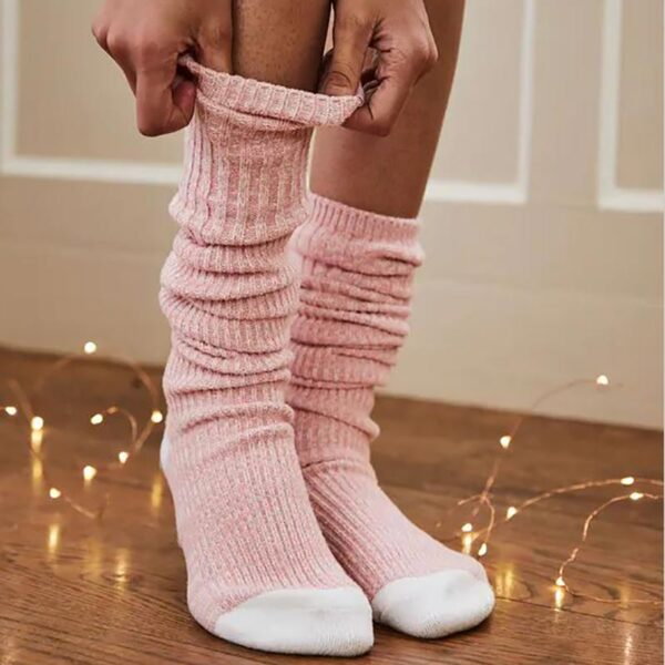 Joules Trussel Knitted Boot Sock Pink 3