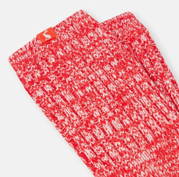Joules Trussel Knitted Sock - Rose Red 2